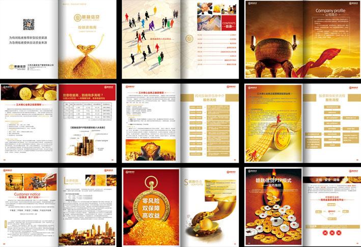 金融投资公司宣传册样式
